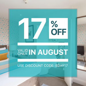 17% Off BDAY - Arrival in August