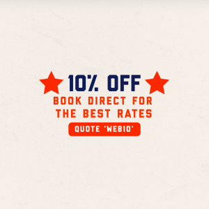 Book Direct - 10% Off