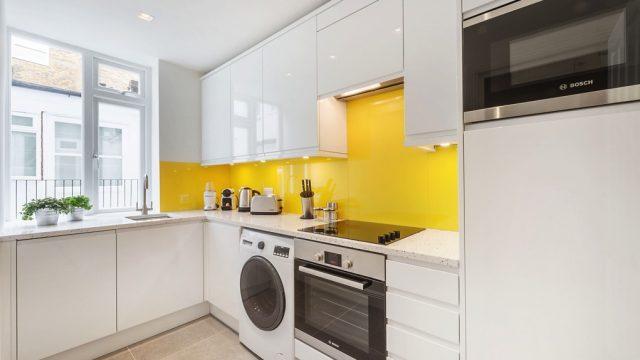 Marylebone serviced studio kitchen